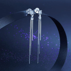 Drop Dangle Solid 925 Sterling Silver Earrings Fashion Wedding Bridesmaid Birthday Gift XFE8135