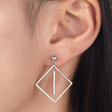 Load image into Gallery viewer, Rebel. 925 Sterling Silver Earrings Dangle Square Fashion Stylish Jewelry XFE8139