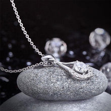 Load image into Gallery viewer, Heart Tear Drop Pendant Necklace 925 Sterling Silver Jewelry Created Diamond XFN8059