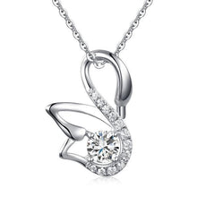 Load image into Gallery viewer, Swan Pendant Necklace 925 Sterling Silver Jewelry Created Diamond XFN8061