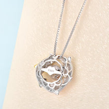 Load image into Gallery viewer, Rebel. Dolphins Dancing Stone Pendant Necklace 925 Sterling Silver XFN8101