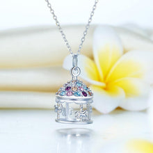 Load image into Gallery viewer, Rebel. Multi-Color Merry-Go-Round Pendant Necklace Solid 925 Sterling Silver Jewelry XFN8112