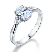 Load image into Gallery viewer, Solid 925 Sterling Silver Promise Ring Affordable Wedding Oval Cut Created Diamante XFR8123