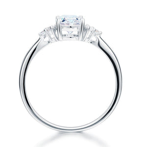 Solid 925 Sterling Silver Promise Ring Affordable Wedding Oval Cut Created Diamante XFR8123