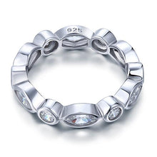 Load image into Gallery viewer, Marquise Solid 925 Sterling Silver Ring Eternity Band Wedding Jewelry XFR8140