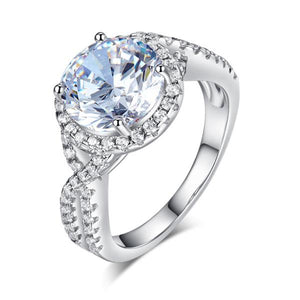 Rebel. 3 Carat Created Diamond 925 Sterling Silver Wedding Engagement Luxury Ring Promise Anniversary XFR8243