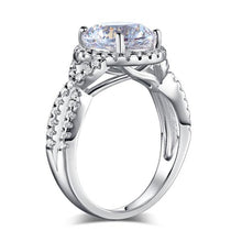 Load image into Gallery viewer, 3 Carat Created Diamond 925 Sterling Silver Wedding Engagement Luxury Ring Promise Anniversary XFR8243