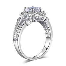 Load image into Gallery viewer, Rebel. Art Deco Vintage style 925 Sterling Silver Wedding Ring 1.25 Ct Created Diamond Promise Anniversary XFR8255