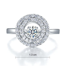 Load image into Gallery viewer, Dancing Stone Double Halo Solid 925 Sterling Silver Ring Fashion Wedding Jewelry XFR8285