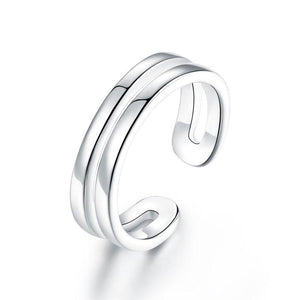 Rebel. Kids Girls Solid 925 Sterling Silver Ring Band Children Jewelry Adjustable XFR8295