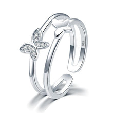 Load image into Gallery viewer, Rebel. Solid 925 Sterling Silver Ring Band Fashion Butterfly 2017 New Style for Girls Ladies XFR8298