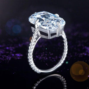 Solid 925 Sterling Silver Luxury Ring Solitaire 8.5 Carat Wedding Engagement Party Pageant Jewelry XFR8305