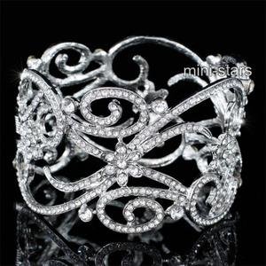 Bridal Wedding Pageant Party Art Deco Vintage Style Crystal Bangle XB0083