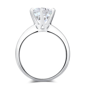 14K White Gold Bridal Wedding Engagement Solitaire Ring 2 Ct Topaz  6 Claws