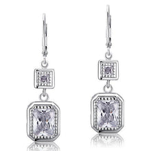 Load image into Gallery viewer, 4 Carat Emerald Cut Created Diamond 925 Sterling Silver Dangle Earrings XFE8014