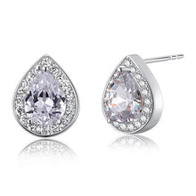 Load image into Gallery viewer, Rebel. 1 Carat Pear Cut Created Diamond 925 Sterling Silver Stud Earrings XFE8032