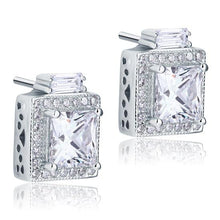 Load image into Gallery viewer, Rebel. 2 Carat Created Diamond Vintage Style Stud 925 Sterling Silver Earrings XFE8067