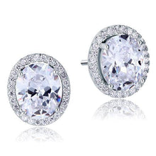 Load image into Gallery viewer, Rebel. 3 Carat Oval Cut Created Diamond Stud 925 Sterling Silver Earrings XFE8072