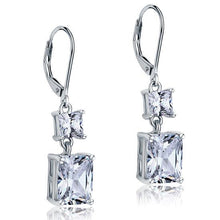 Load image into Gallery viewer, Rebel. 8 Carat Princess Cut Created Diamond Dangle Drop 925 Sterling Silver Earrings XFE8095