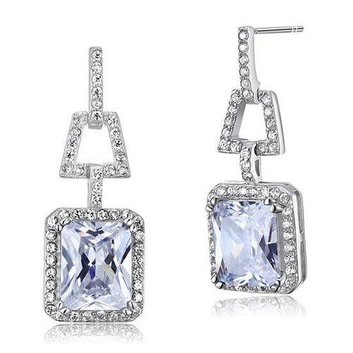 4 Carat CZ Simulated Diamond 925 Sterling Silver Dangle Earrings XFE8098