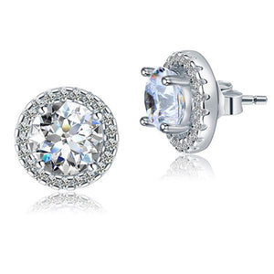 Rebel. 2.5 Carat Halo (Removable) Stud Earrings 925 Sterling Silver Jewelry XFE8125
