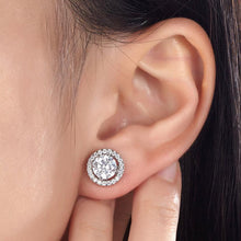 Load image into Gallery viewer, Rebel. 2.5 Carat Halo (Removable) Stud Earrings 925 Sterling Silver Jewelry XFE8125