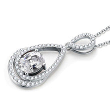 Load image into Gallery viewer, 2 Carat Oval Cut Created Diamond Sterling 925 Silver Pendant Necklace XFN8017