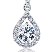 Load image into Gallery viewer, 1 Carat Round Cut Created Diamond Bridal 925 Sterling Silver Pendant Necklace XFN8035