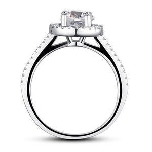 Rebel. 1.25 Carat Round Cut Created Diamond 925 Sterling Silver Wedding Engagement Ring XFR8003