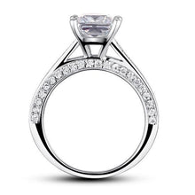 Load image into Gallery viewer, Rebel. 1.5 Carat Princess Cut Created Diamond 925 Sterling Silver Wedding Engagement Ring XFR8009
