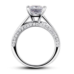 Rebel. 1.5 Carat Princess Cut Created Diamond 925 Sterling Silver Wedding Engagement Ring XFR8009