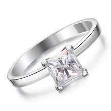 Load image into Gallery viewer, Rebel. 1 Carat Created Princess Diamond Engagement Sterling 925 Silver Ring XFR8025
