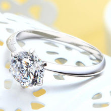 Load image into Gallery viewer, 1 Carat Created Diamond Engagement Sterling 925 Silver Ring XFR8027
