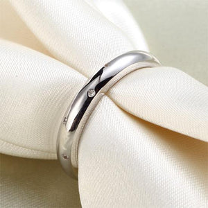 Sterling 925 Silver Wedding Band Ring XFR8028