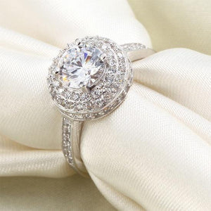 1 Carat Round Cut Created Diamond Wedding Engagement Sterling 925 Silver Ring XFR8035