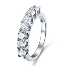 Load image into Gallery viewer, Rebel. 1.75 Carat Seven Stone Solid 925 Sterling Silver Wedding Ring Jewelry XFR8043