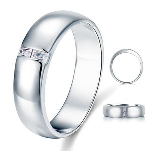 Men's Wedding Band Solid Sterling 925 Silver Ring XFR8050