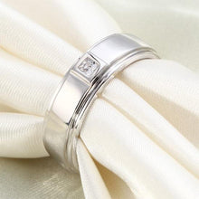 Load image into Gallery viewer, Rebel. Bezel Setting Men's Solid Sterling 925 Silver Ring XFR8051