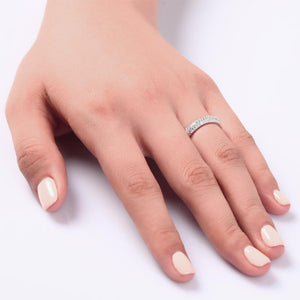 Micro Solid Setting 925 Sterling Silver Ring XFR8063