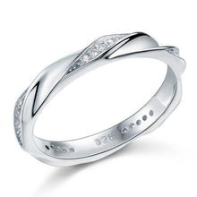 Load image into Gallery viewer, Created Diamond Solid Sterling 925 Silver Twist Ring XFR8064