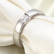 Load image into Gallery viewer, Rebel. Princess Cut Created Diamond Solid Sterling 925 Silver Ring XFR8074