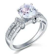 Load image into Gallery viewer, Rebel. 2 Carat Created Diamond Solid 925 Sterling Silver Wedding Engagement Ring XFR8078