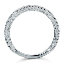Load image into Gallery viewer, Vintage Style Art Deco Created Diamond Solid Sterling 925 Silver Band Wedding Eternity Ring XFR8099