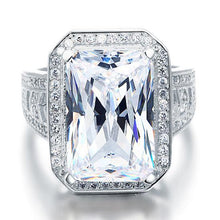 Load image into Gallery viewer, Rebel. Radiant Cut Created Diamond 925 Sterling Silver Ring XFR8116