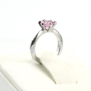 Rebel. Newborn Baby 925 Sterling Silver Ring Pink Created Diamond Photo Prop XFR8208