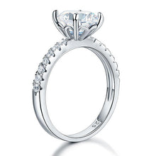 Load image into Gallery viewer, 925 Sterling Silver Bridal Engagement Ring 2 Carat Created Diamond Jewelry XFR8212
