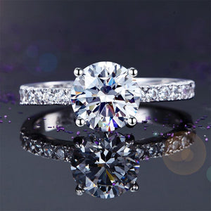 925 Sterling Silver Bridal Engagement Ring 2 Carat Created Diamond Jewelry XFR8212