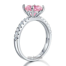Load image into Gallery viewer, 925 Sterling Silver Bridal Engagement Ring 2 Carat Created Diamond Jewelry XFR8213