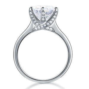 Rebel. 925 Sterling Silver Luxury Wedding Engagement Ring 3 Carat Created Diamond Jewelry XFR8228