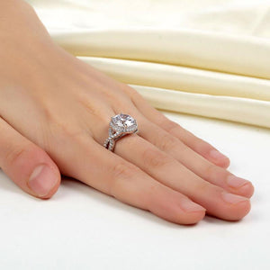 3 Carat Created Diamond 925 Sterling Silver Wedding Engagement Luxury Ring Promise Anniversary XFR8243